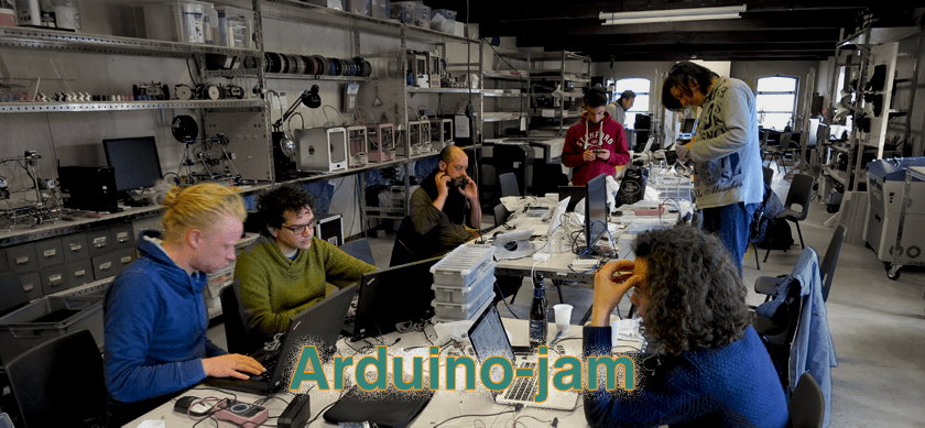 people jamming on the arduino jam
